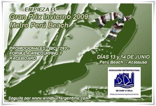 Aviso GP Invierno Metro Peru Beach 2009